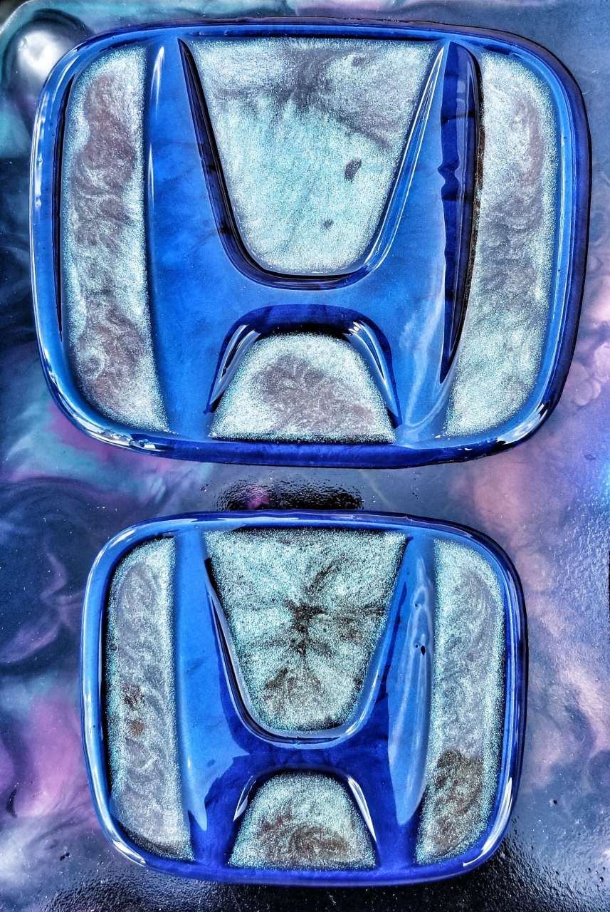 Blue Envy Epoxy Resin Honda Car Emblems