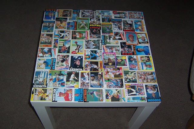 Epoxy Resin Baseball Card Table